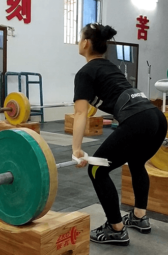 White Weight Training Straps for Chinese Weightlifting