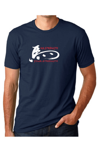 Navy Chinese weightlifting t-shirt